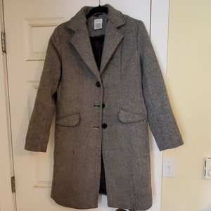 Herringbone dress coat